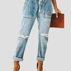 الگوی آماده شلوار جین زاپ دار