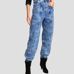 الگوی آماده شلوار جین فاق بلند تکه ای