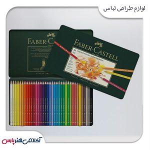 مداد رنگی پلی کروم فابرکستل جعبه فلزی 36 رنگ