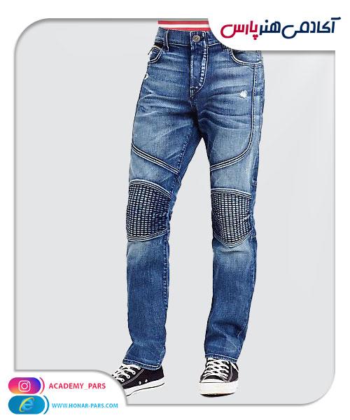 الگوی آماده شلوار جین مردانه برش دار