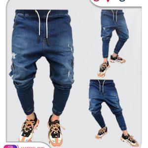 الگوی آماده شلوار جین مردانه فاق بلند
