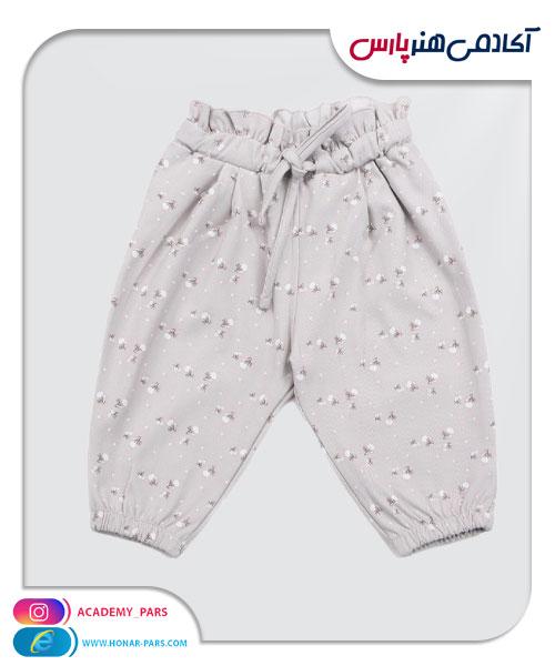 الگوی آماده شلوار بندینک دار نوزاد